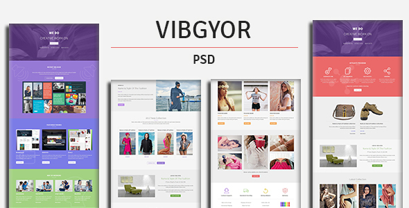 VIBGYOR - PSD Template - Creative PSD Templates TFx Plutarch Preston