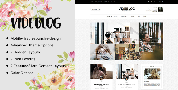 Videblog: A Responsive WordPress Blog Theme - Personal Blog / Magazine TFx Wally Payton