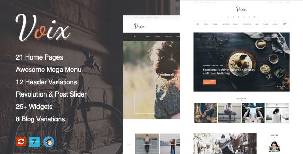 Voix - Personal Blogging WordPress Theme for Storytellers - Blog / Magazine WordPress TFx Kermit Deryck