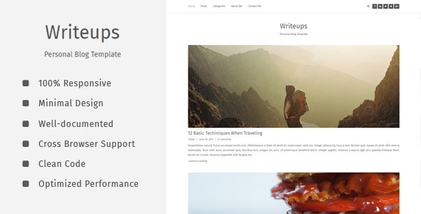 Writeups - Personal Blog Template - Personal Site Templates TFx Abdul Flynn