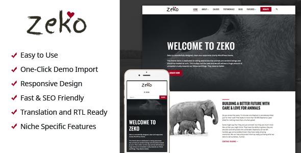 Zeko - Charity/Non-Profit WordPress Theme - Charity Nonprofit TFx Evander Sachie