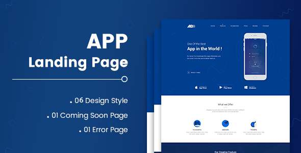 AD – App Landing Page – Creative Site Templates TFx Bobby Xavior