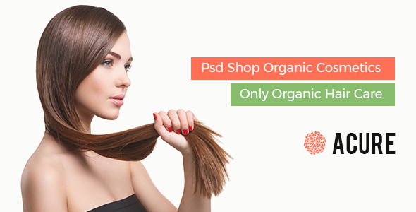 Acure Organics Hair Care Shop Psd Template - Health & Beauty Retail TFx Glenn Russell