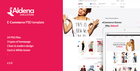 Aldena Fashion eCommerce PSD template – Fashion Retail TFx Lothair Aubrey