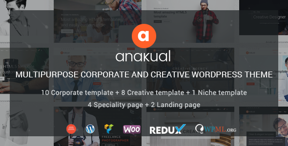 Anakual - Multipurpose Corporate and Creative WordPress Theme - Business Corporate TFx Ste Hugo