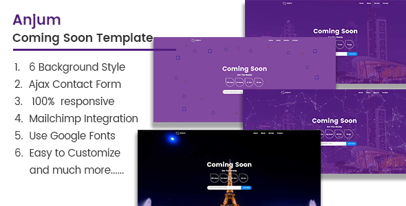 Anjum  Coming Soon Template - Under Construction Specialty Pages TFx Lindsey Garegin