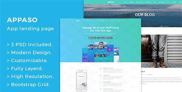 Appso Creative App Landing Page - Creative PSD Templates TFx Kisecawchuck Noel