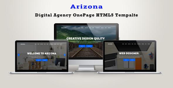 Arizona  Digital Agency OnePage HTML5 Template - Business Corporate TFx Montana Raynard