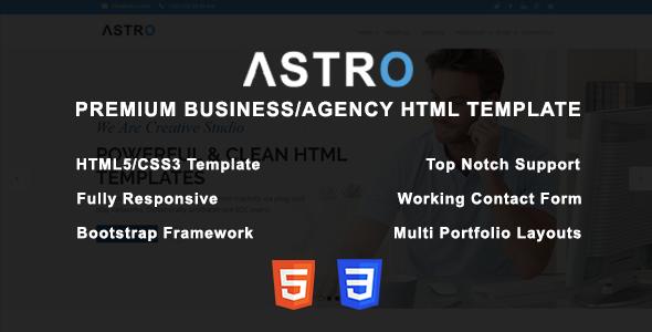 Astro - Premium Business/Agency HTML Template - Creative Site Templates TFx Errol Hilary