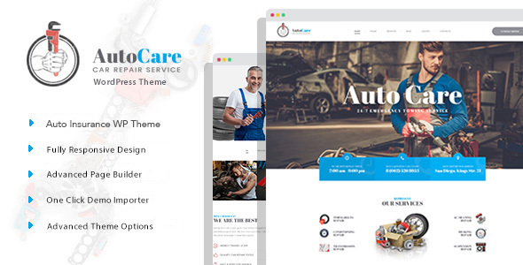 AutoCare - Auto Service WordPress Theme - Business Corporate TFx Harrison Terence