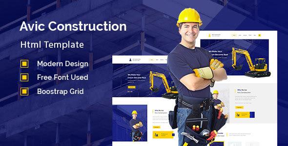 Avic - Construction, Building Company - Corporate Site Templates TFx Nerses Delmar
