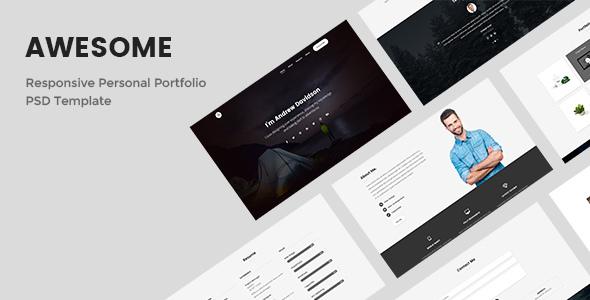 Awesome - Responsive Personal Portfolio PSD Template - Portfolio Creative TFx Chuck Arata
