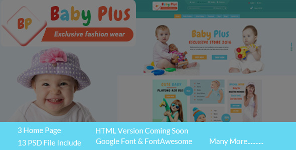 BabyPlus eCommerce HTML Template - Children Retail TFx Quin Juvenal