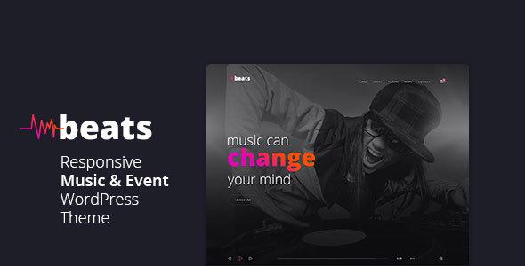 Beats - Responsive Music & Event WordPress Theme - Music and Bands Entertainment TFx Robbie Zachariah