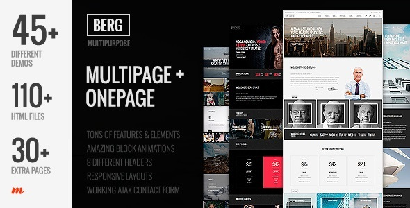 Berg – Multipurpose One Page & Multi Page Joomla Template – Corporate Joomla TFx Jeffry Dashiell