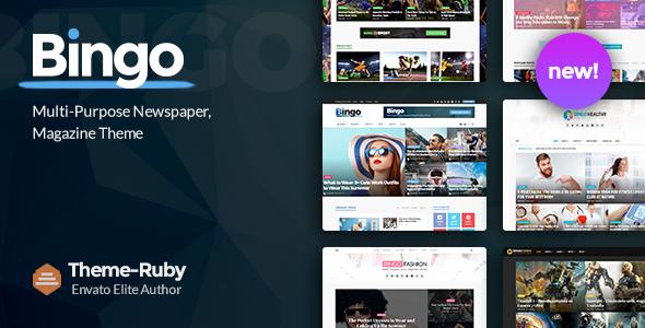 Bingo - Multi-Purpose Newspaper & Magazine Theme - News / Editorial Blog / Magazine TFx Zack Elvis