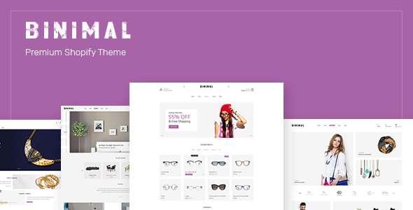 Binimal - Minimalist eCommerce PSD Template - Retail PSD Templates TFx Samson Amery
