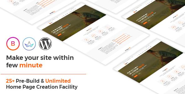 Bravery - Creative  One & Multipurpose WordPress Theme - Marketing Corporate TFx Jaden Zac