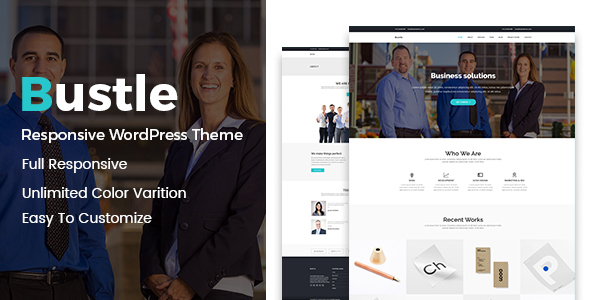 Bustle - Corporate WordPress Theme - Business Corporate TFx Kaede Quanah