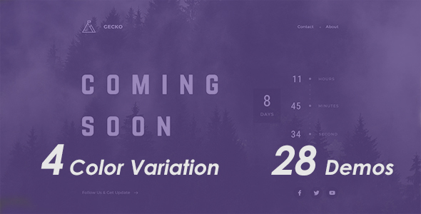 Cecko – Coming Soon Template – Under Construction Specialty Pages TFx Yori Percy