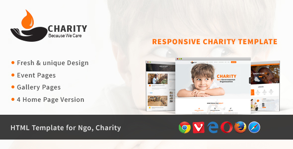 Charity - HTML Template for Charity & Non Profit Organization - Charity Nonprofit TFx Cambyses Dwight