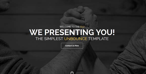 Clue - Responsive Unbounce Landing Page Template - Unbounce Landing Pages Marketing TFx Cooper Denholm