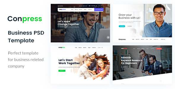Conpress. Business & Agency PSD Template - Business Corporate TFx Nevil Donald