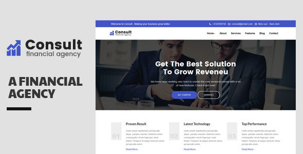 Consult-Financial Consulatnce Template - Corporate Site Templates TFx Taegan Eldon