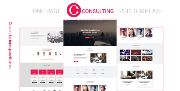 Consulting – One Page PSD Template – PSD Templates  TFx Arata Zac
