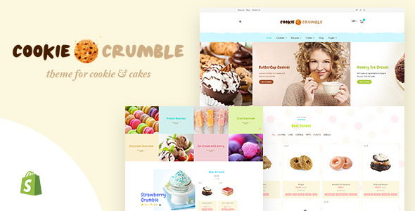 Cookie Crumble   Bakery & Confectionery Shopify Theme – Shopify eCommerce TFx Sage Will