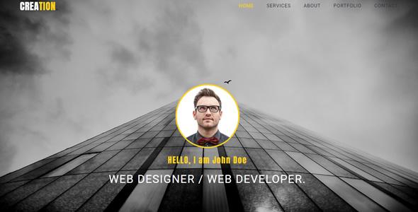 Creation - Personal Portfolio HTML Template - Portfolio Creative TFx Milburn Hollis
