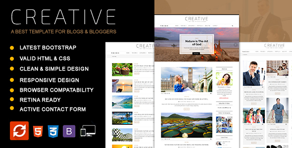 Creative - Blog HTML Template - Personal Site Templates TFx Eliott Johnny