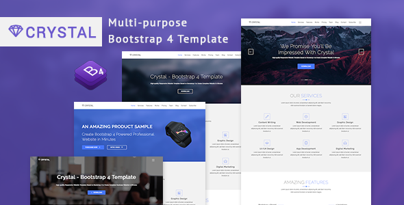 Crystal - Bootstrap 4 Template - Business Corporate TFx Saladin Jadyn