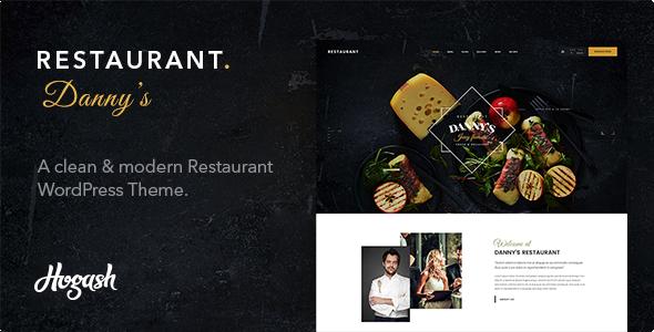 Dannys Restaurant WordPress Theme - Restaurants & Cafes Entertainment TFx Dana Tanner
