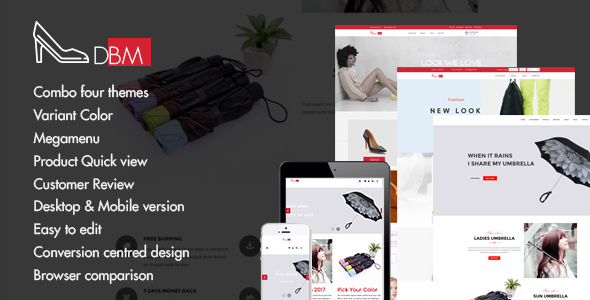 Dbm – Responsive Shopify Theme (Sections Ready) – Shopify eCommerce TFx Tiger Haig