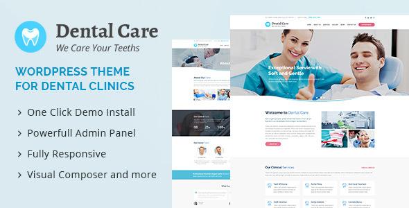 Dental Care - Medical and Dental WordPress Theme - Business Corporate TFx Teddy Evan