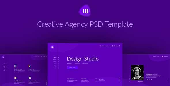 Design Studio - Creative Agency PSD Template - Portfolio Creative TFx Reed Bronte