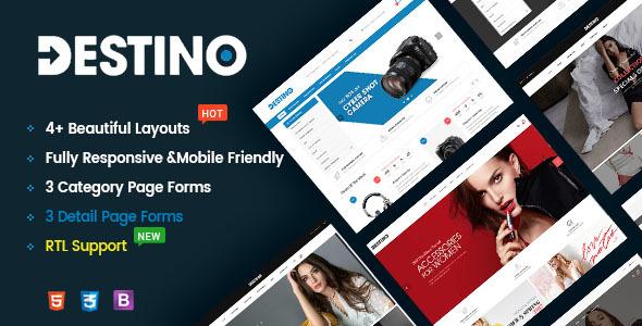 Destino - Responsive & Multi-Purpose HTML5 Template - Retail Site Templates TFx Porter Hiroshi