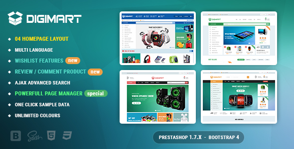 Digimart PrestaShop 1.7 Theme For Digital Template – Shopping PrestaShop TFx Cowessess Milburn