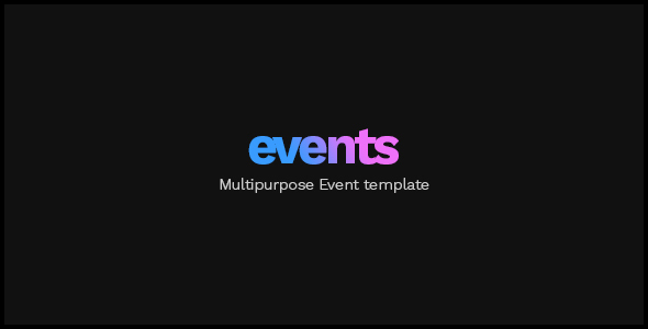 EVENTS - Multipurpose Conference Template - Events Entertainment TFx Luther Kody