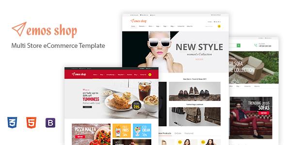 Emos - Multi Store eCommerce Template - Shopping Retail TFx Ralf Sheard