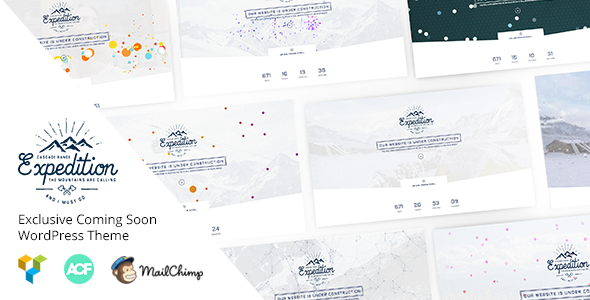 Expedition - Exclusive Coming Soon WordPress Theme - Business Corporate TFx Raine Sydney