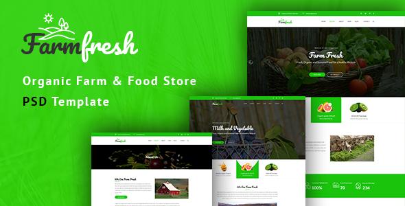 Farm Fresh - Organic Food & Eco Farm PSD Template - Food Retail TFx Solomon Wilt