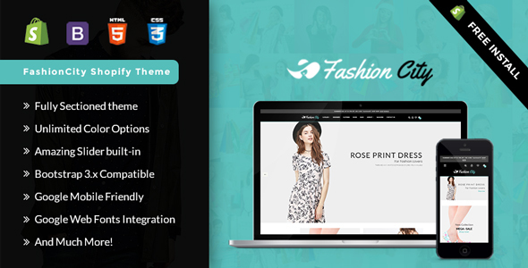 Fashion City -Shopify  Responsive Sectioned Theme – Shopify eCommerce TFx Marlon Muscowequan