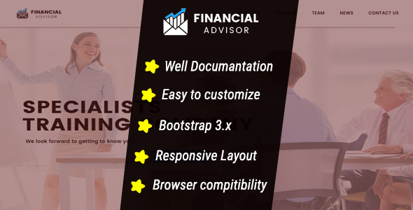 Financial Advisor – HTML5 CSS3, Responsive Template – Corporate Site Templates TFx Hilary Lorne