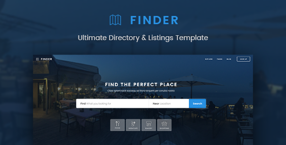 Finder – Ultimate Directory & Listings Template – Miscellaneous PSD Templates TFx Wolfe Scot
