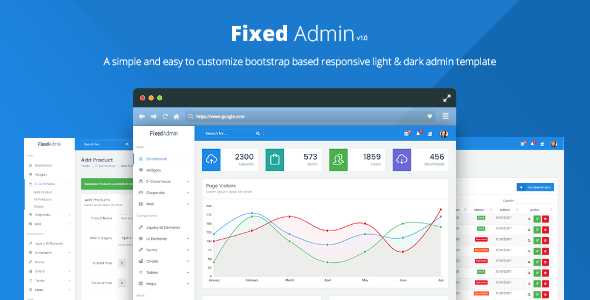 Fixed Admin - Bootstrap  Admin Dashboard Template - Admin Templates Site Templates TFx Ozzy German