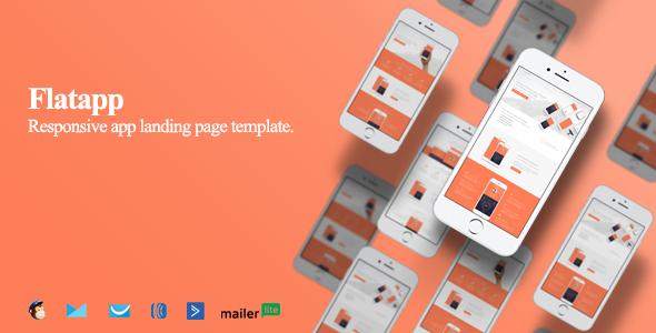 FlatApp Responsive App Landing Page Template - Apps Technology TFx Elihu Braden