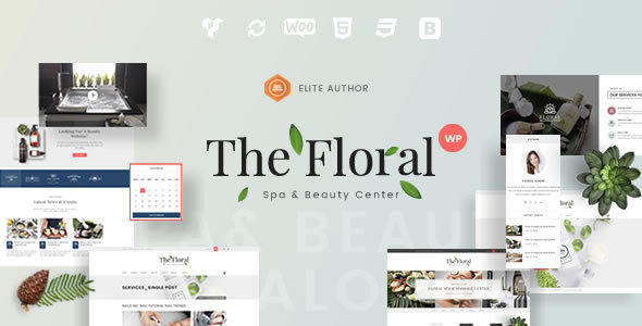 Floral - Spa and Beauty Responsive WordPress Theme - Health & Beauty Retail TFx Hadyn Darell