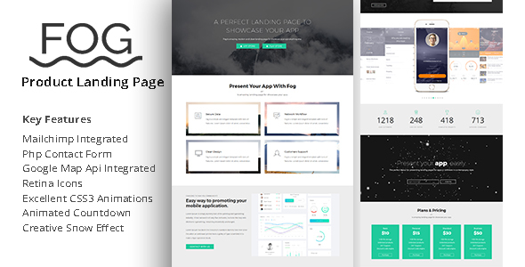 Fog - Product Landing Page - Landing Pages Marketing TFx Livy Barret
